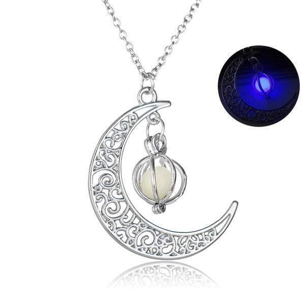Crescent Moon Glow Necklace - Exotic Land Imports
