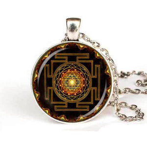 Sri Yantra Pendant Necklace For Sale