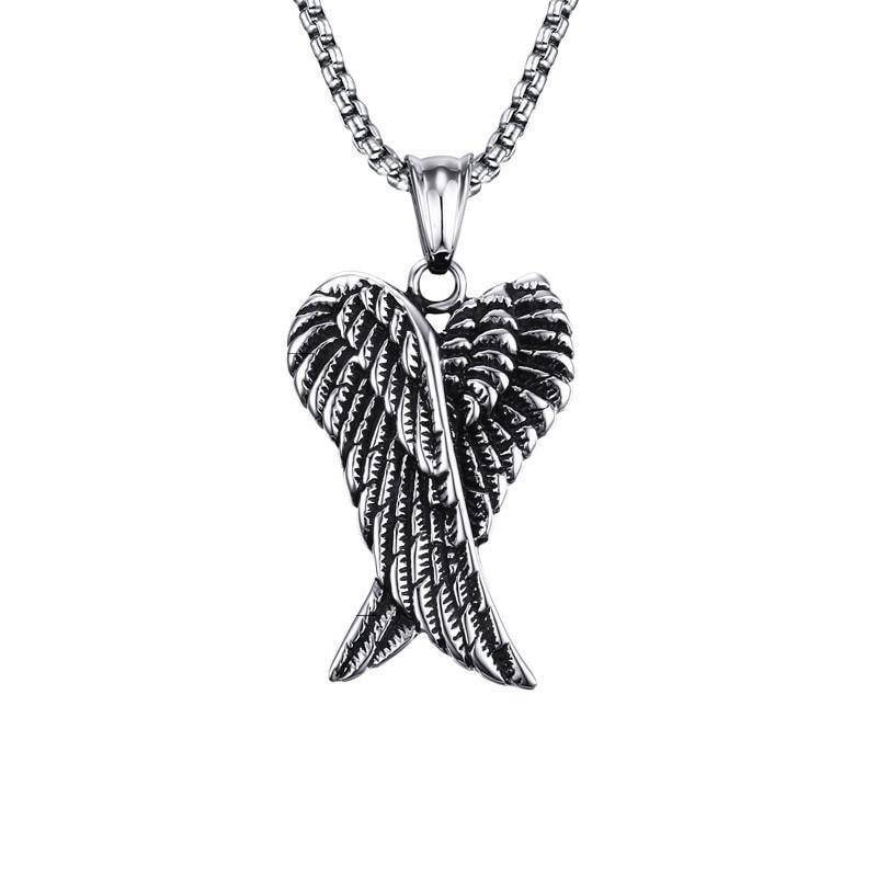 Angel Wings Biker Necklace - Exotic Land Imports