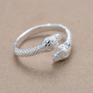 Twin Head Snake Ring