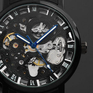 Black Skeleton Steampunk Watch - Exotic Land Imports