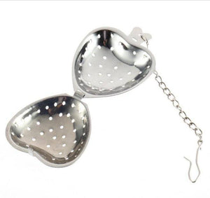 Heart Shaped Tea Infuser With Chain - Free Worldwide Shipping - Exotic Land Imports
