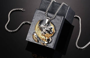 """Live To Ride - Ride To Live"" Necklace"