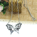 Steampunk Butterfly Necklace - Exotic Land Imports