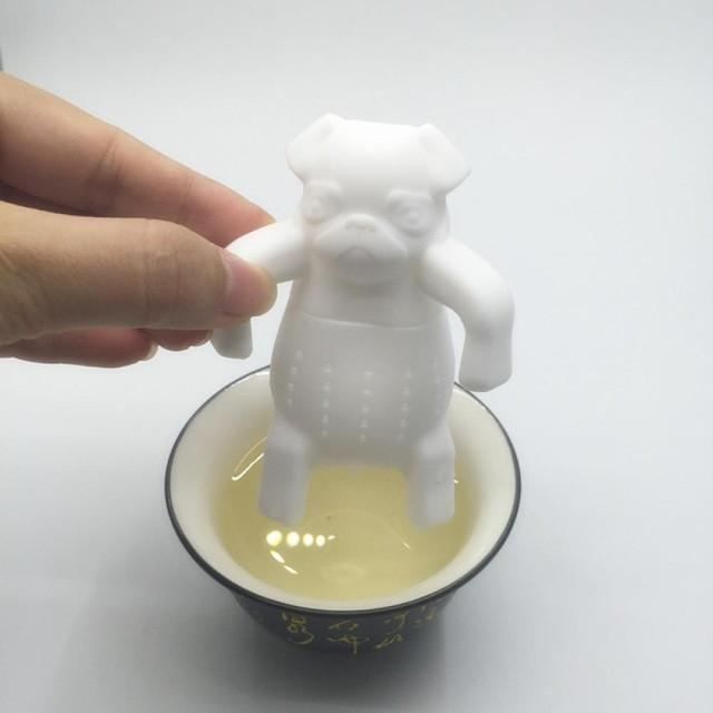 Pug Tea Infuser (Silicone) - Free Worldwide Shipping - Exotic Land Imports