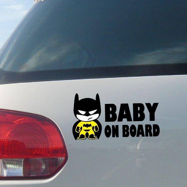 "Batman ""Baby On Board"" Car Sticker - Exotic Land Imports"