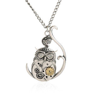 Steampunk Owl Necklace - Exotic Land Imports