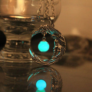 Glow in the Dark Star & Crescent Moon Necklace