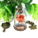 Rose Glass Necklace - Exotic Land Imports