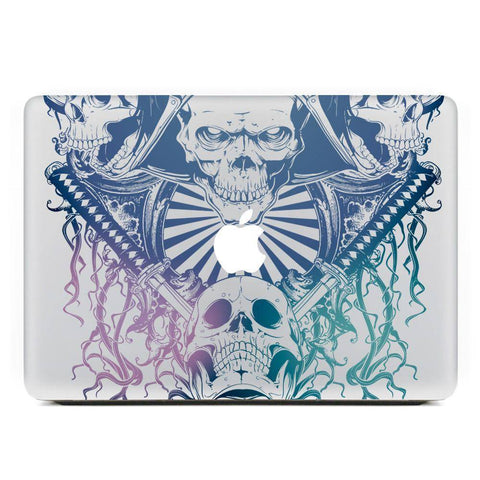 """Samurai Skull"" Macbook Decal - Exotic Land Imports"