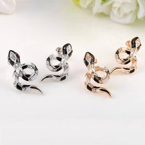 Crystal Snake Stud Earrings
