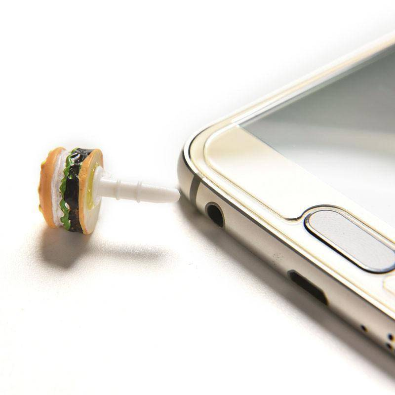 2 Hamburger Smartphone Anti Dust Plugs
