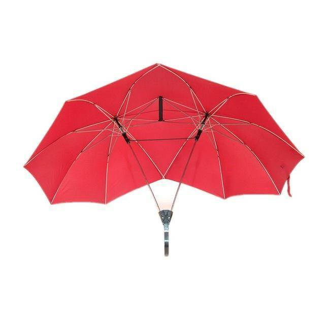 Couples - Two Person Umbrella - Keep Dry Together OR Double the Shade! - Exotic Land Imports