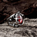 Gecko Red Stone Silver Ring - Exotic Land Imports