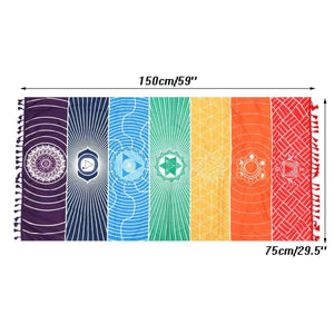 7 Chakras Meditation Tapestry - Exotic Land Imports