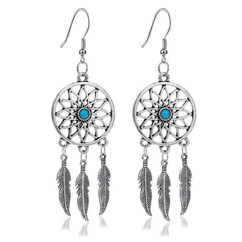 Dream Catcher Drop Earrings - Exotic Land Imports