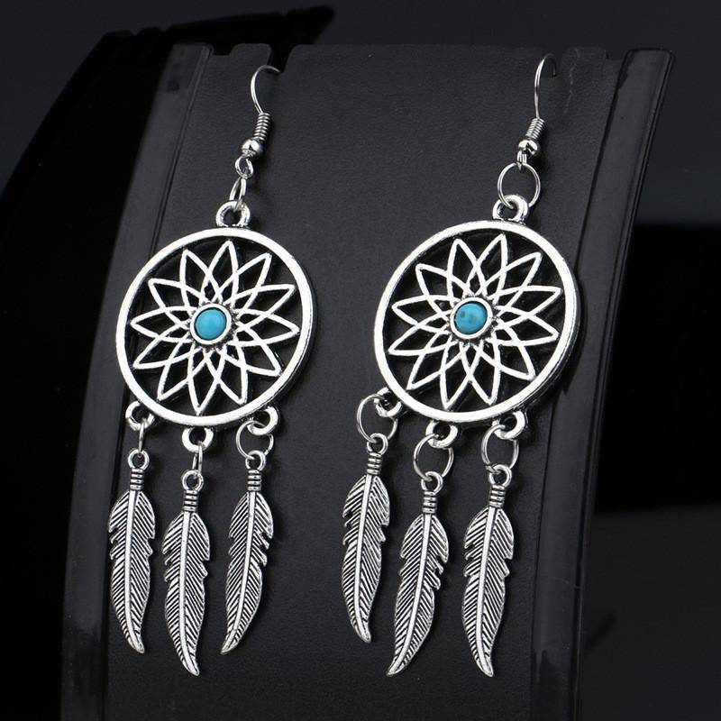 Dream Catcher Drop Earrings