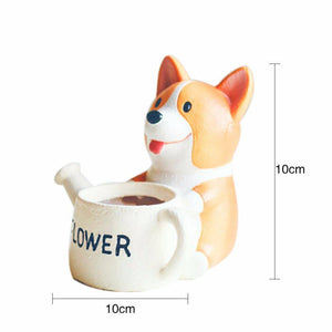 Corgi Planter Flower Pot - Exotic Land Imports
