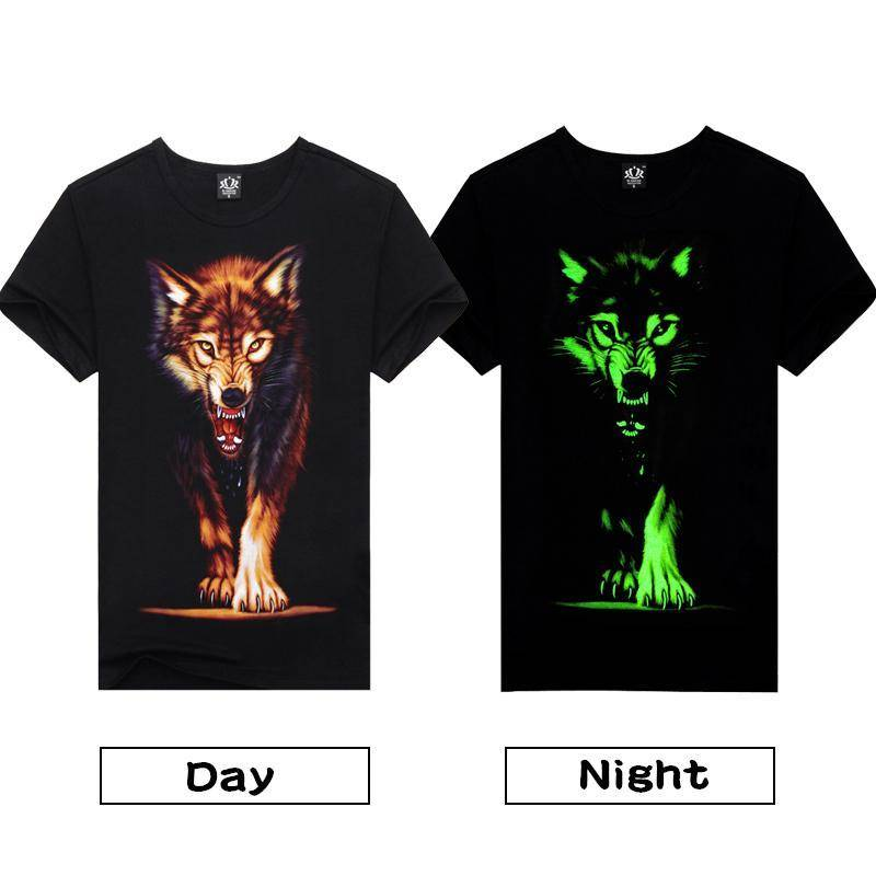 Glowing Wolf T-shirt - Exotic Land Imports