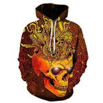 """Blooming Skull"" Hoodie For Sale"