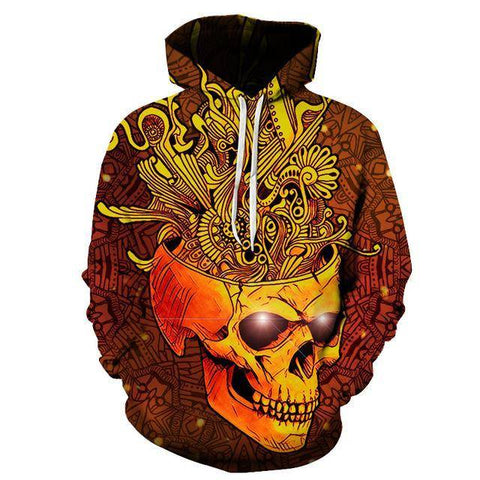 """Blooming Skull"" Hoodie - Exotic Land Imports"
