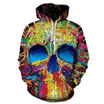 """Rainbow Skull"" Hoodie For Sale"