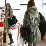 Women's Skull Hooded Jacket - Exotic Land Imports