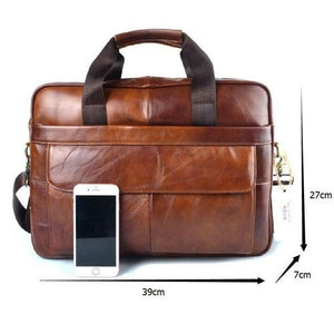 High Class Professional Genuine Leather Laptop Bag - Exotic Land Imports