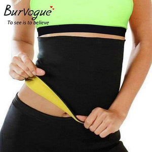 Burvogue Women Shaper Neoprene Abdominal Slimming Belt Sweat Sauna Neoprene Body Shaper Belt Hot Shapers Waist Trainer Corset - Exotic Land Imports