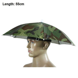 Umbrella Hat - Sun * Shade * Rain * Perfect for Fishing! - Exotic Land Imports