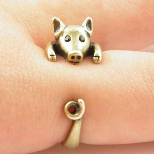 Fully Adjustable Cute Piggy Ring