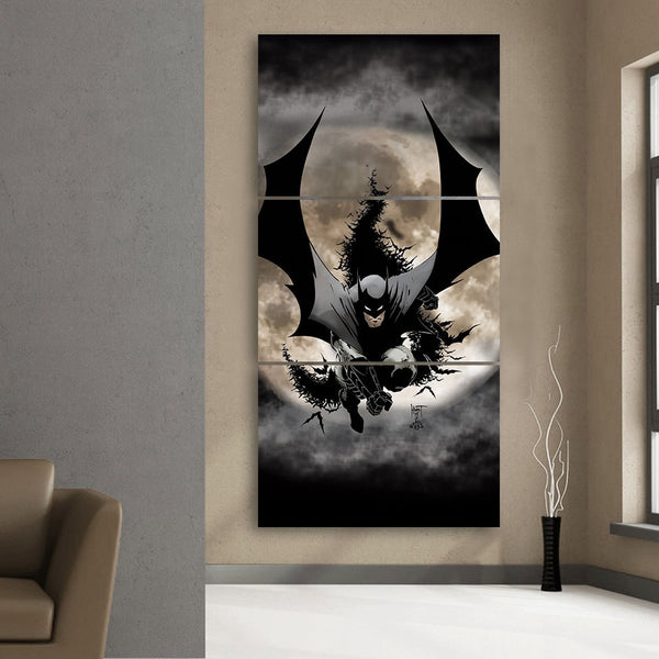 Batman The Dark Knight Ready To Save 3pcs Canvas Vertical