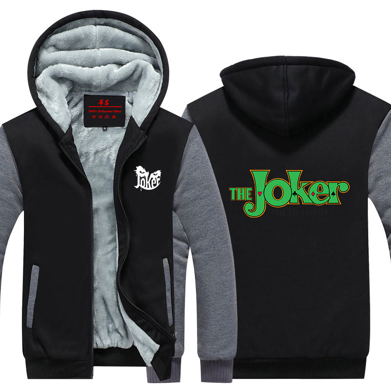 Cool Jacket Designs   The Joker Name Classic Style Design Cool Hooded Jacket Superheroes