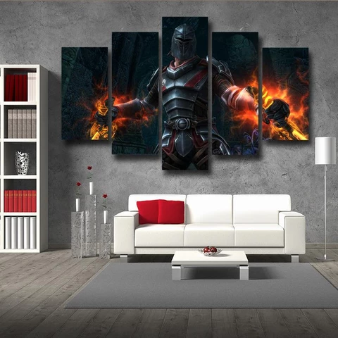 Kingdoms of Amalur Reckoning Medieval Battle Armor 5pc Wall Art Prints