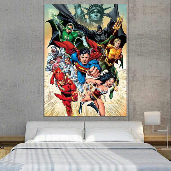 America's Superheroes Justice League 1pcs Canvas Print