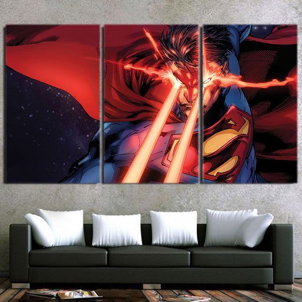 DC Comics Superman Super Power Design 3pcs Canvas Print