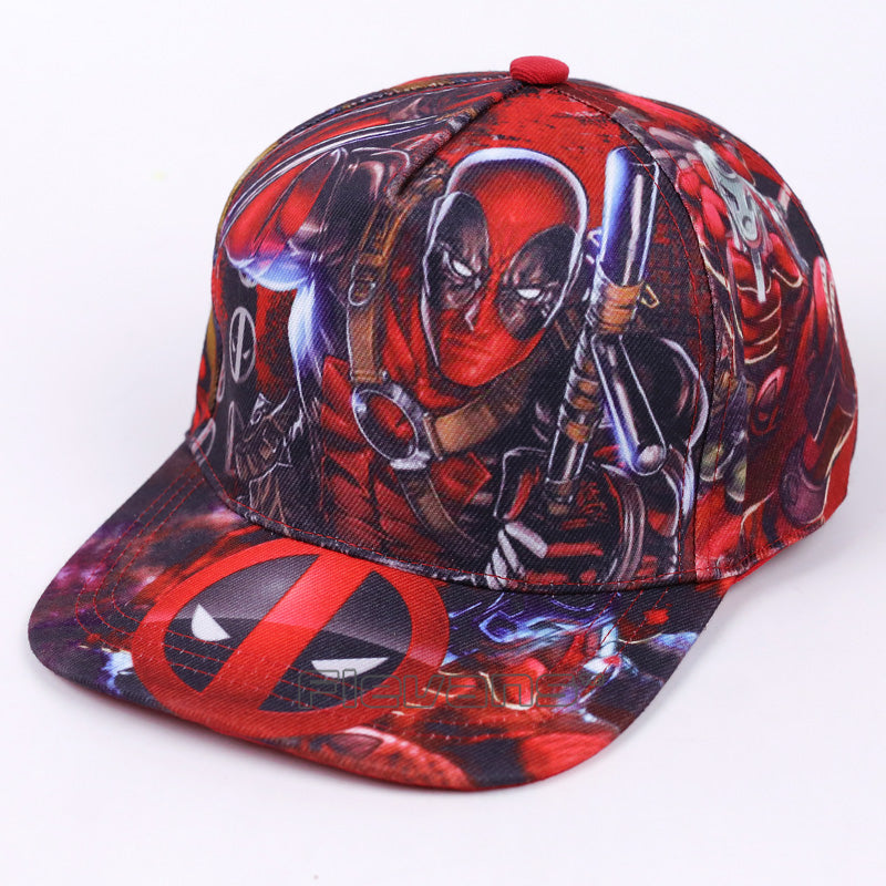 Deadpool Symbol All Style In Red Funky Snapback Baseball Cap ... 34589a8c1fe4