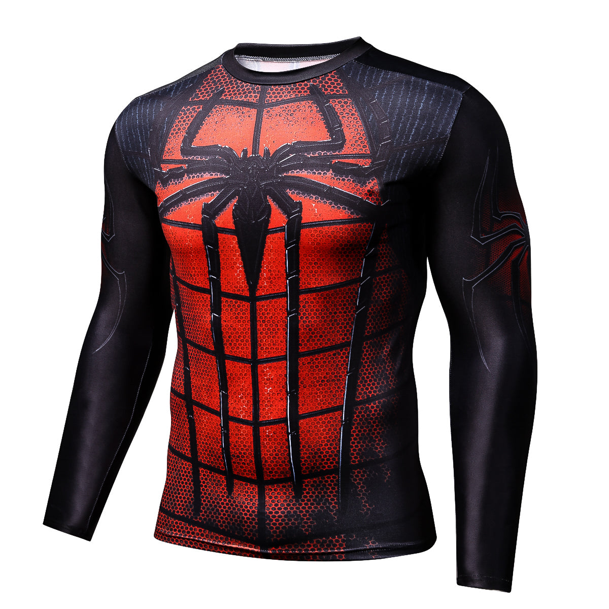 Spiderman Superhero Long Sleeves 3D Print Compression T-shirt