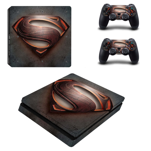 DC Superman Hero Logo Vintage Style PS4 Slim Skin