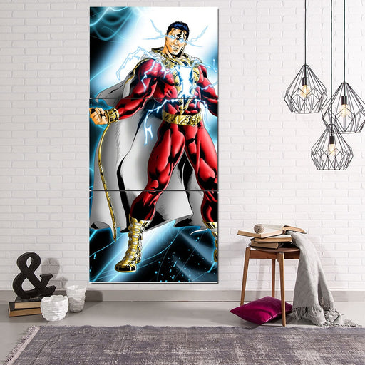 Captain Marvel Electrifying Vertical 3pc Wall Art Canvas Print