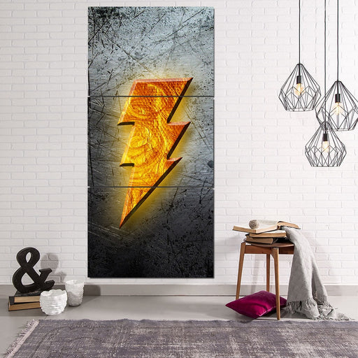 DC Comics Captain Marvel Shazam! Logo 3pc Wall Art Canvas Print