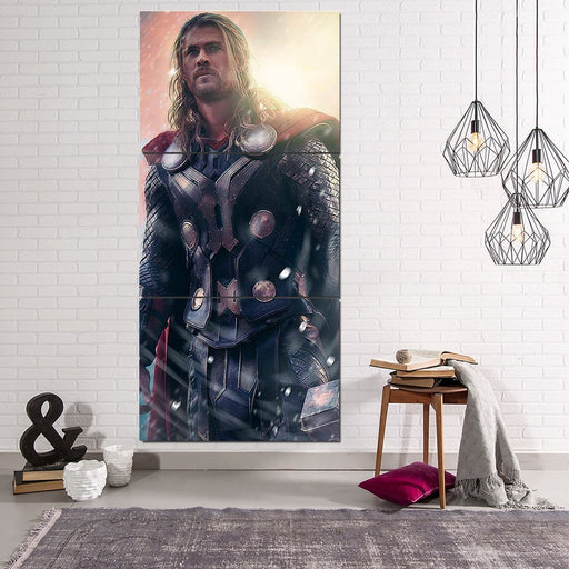 Thor Real Super Cool Serious Portrait 3pcs Canvas Vertical