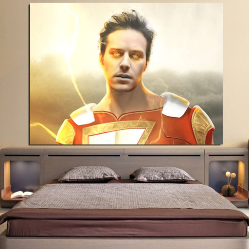 DC Comics Shazam Billy Batson Portrait 1pc Wall Art Canvas Print