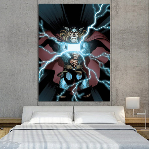 Thor Cartoon Super Avengers Magical Hammer 1pc Vertical Canvas