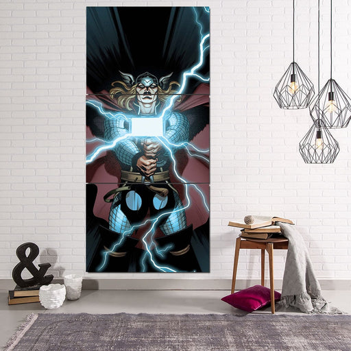 Thor Cartoon Super Avengers Magical Hammer 3pcs Canvas