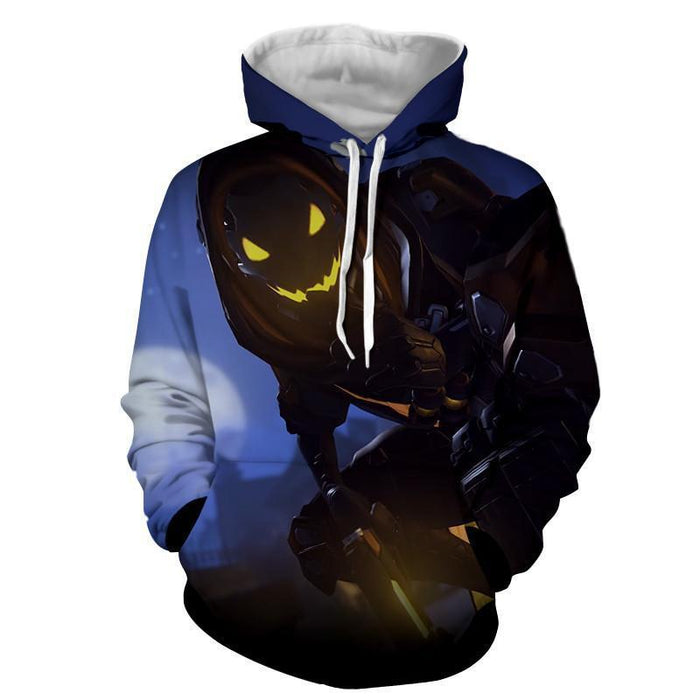 Overwatch Reaper Deathly Hero Silent Design Gaming Hoodie