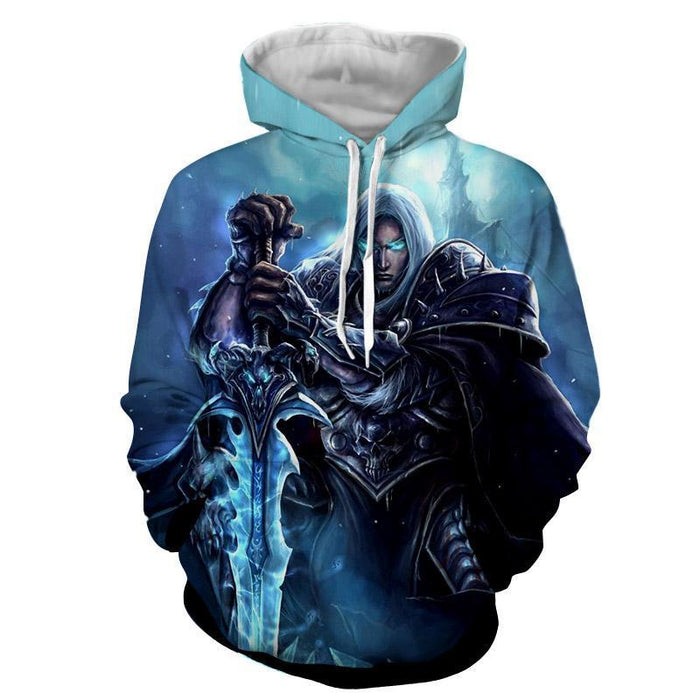 World of Warcraft Frozen Throne Arthas Cool Game Hoodie