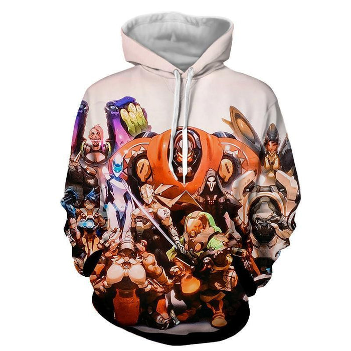Overwatch All Character Action Comic Style Poster Cool Hoodie