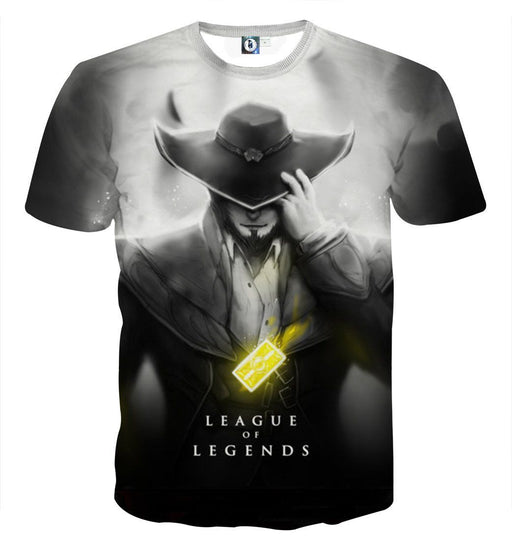 League of Legends Twisted Fate Card Master 3D Cool T-shirt