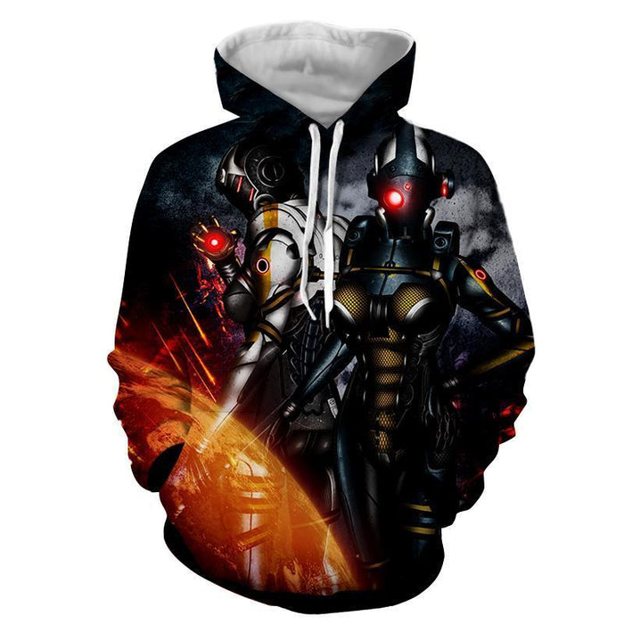 Mass Effect Cerberus Army Battle Armor Game Beach Hoodie